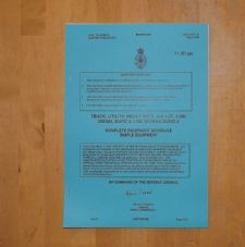 Mowag Duro 2. Complete Equipment Schedule.